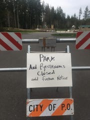 The city of Port Orchard closed its parks on March 19 to curb the spread of coronavirus.