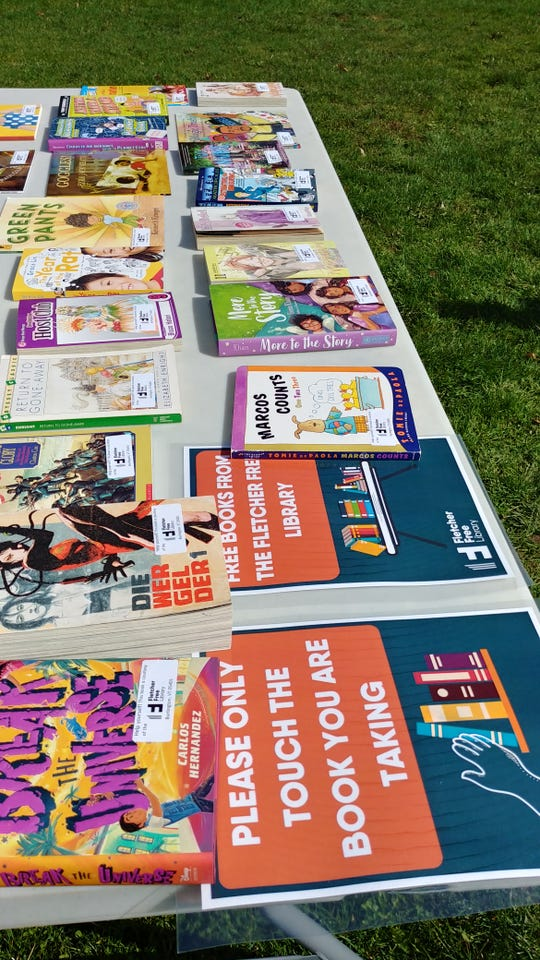 The Fletcher Free Library and Burlington School District are providing free books for students at meal pick up sites. Each child can claim one book each week to keep. The initiative began April 15, 2020.
