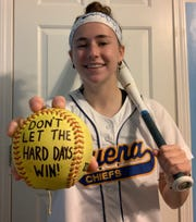 Buena's Sophia Ridolfo has a simple message for softball players everywhere. After being the team manager for three years, the senior was ready to play this spring.