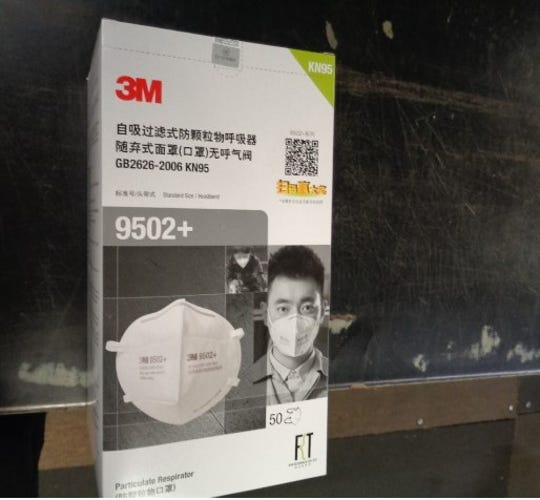 U.S. Customs and Border Protection officers from Cincinnati intercepted 3,000 counterfeit 3M masks headed for Texas at DHL.