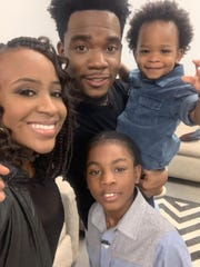 Clarksville-based comedian DJ Pryor, his wife, Shanieke, and their children, Kingston and Jabari, in March 2020. The Pryors have launched an entertainment comedy production company called Laughter is Universal.