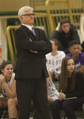 Joe Whalen while coaching at St. Rose in 2014.