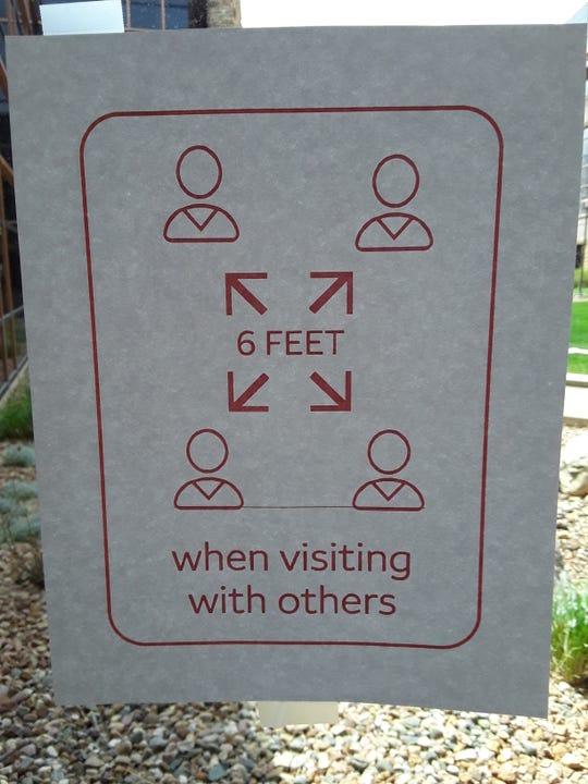 Wells Fargo social distancing instructions