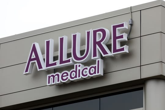 """The building where Allure Medical's office is in Shelby Township, Michigan on Thursday, April 23, 2020.The Federal Bureau of Investigations raided Allure Medical for an alleged """"federal violation."""""""
