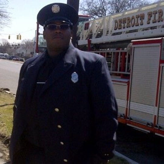 Fire fighter Najuma Fulton when he worked at Detroit's Ladder 20 Squad 2 at Cass and Alexandrine St. from 2007-2012.