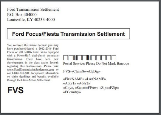 Nearly 2 million Ford Focus, Fiesta owners will get postcards alerting them to financial relief opportunities.