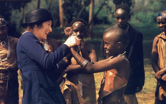 """Meryl Streep in """"Out of Africa."""""""
