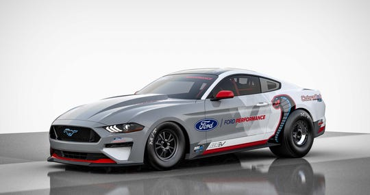 The Ford Mustang Cobra Jet 1400 is the brand's first electric dragster.