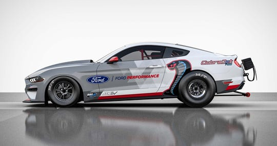 The Ford Mustang Cobra Jet 1400 is like the familiar Cobra Jet Factory tock dragster -- only battery-powered.