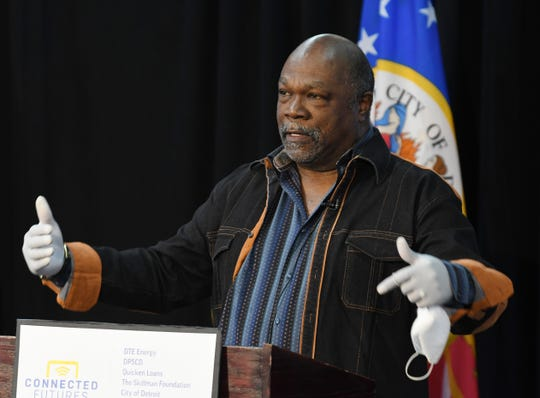 The Rev. Wendell Anthony, president of the Detroit Chapter of the NAACP, talks about a plan to place high-speed LTE internet into the hands of every Detroit Public Schools Community District student by the end of the school year.