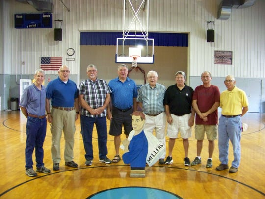Some of the 1968-69 team from Otwell, back for a reunion.