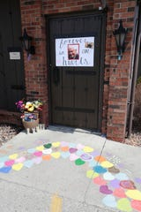 Friar Tuck's employees set up a tribute to owner David Noe, who died April 16, by the entrance of the Fond du Lac restaurant on Wednesday, April 22, 2020.