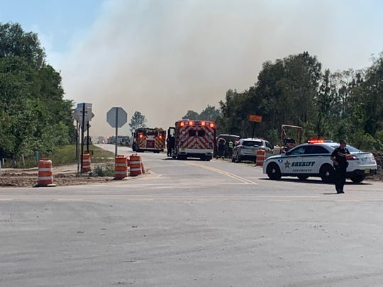 A fast-moving brush fire west of state Route 82 in Lehigh Acres prompted activation of theNorth and South County Strike TeamsThursday afternoon onBlackstone Drive in the Woodridge residential development..