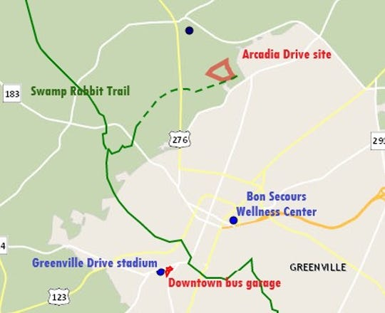 Greenville County will soon donate 26 acres just north of Greenville to the GreenLink bus system for a new, $20 million maintenance facility.