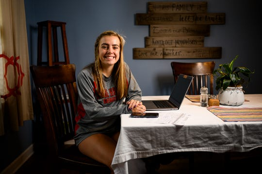 Wade Hampton High School senior Riley Wasse poses for a portrait in her home Thursday, April 23, 2020.