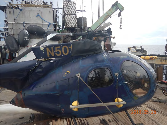 Photo of a Hansen Helicopter Inc. aircraft involved in a May 25, 2018 crash.
