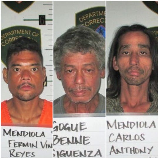 Fermin Mendiola, Benne Gogue and Carlos Mendiola shown in this combined photo.