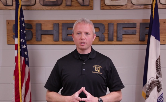 Johnson County Sheriff's Det. Sgt. Brad Kunkel discusses the department's services during the COVID-19 pandemic in a video it released April 23, 2020.