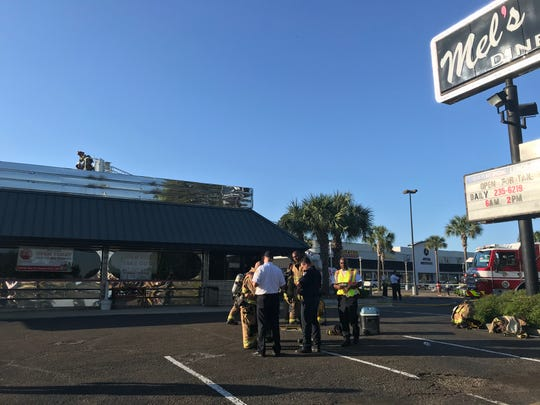 Mel's Diner on Johnston Street was damaged in a fire Friday, April 23, 2020, the same day it started offering takeout orders in the midst of the coronavirus pandemic.