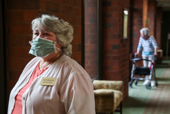 Leilani Krause, director of nursing at Treyton Oak Towers, contracted Covid-19 after working with sick residents at the Old Louisville facility.  After being confined to her home since April 8, Krause has returned to work. April 23, 2020