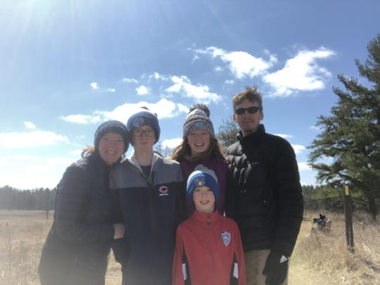Bridget Carlson enjoys going for hikes with her family for Mother's Day. Pictured are Bridget, her sons, Miles and Ian, her daughter, Greta, and her husband, Dan.