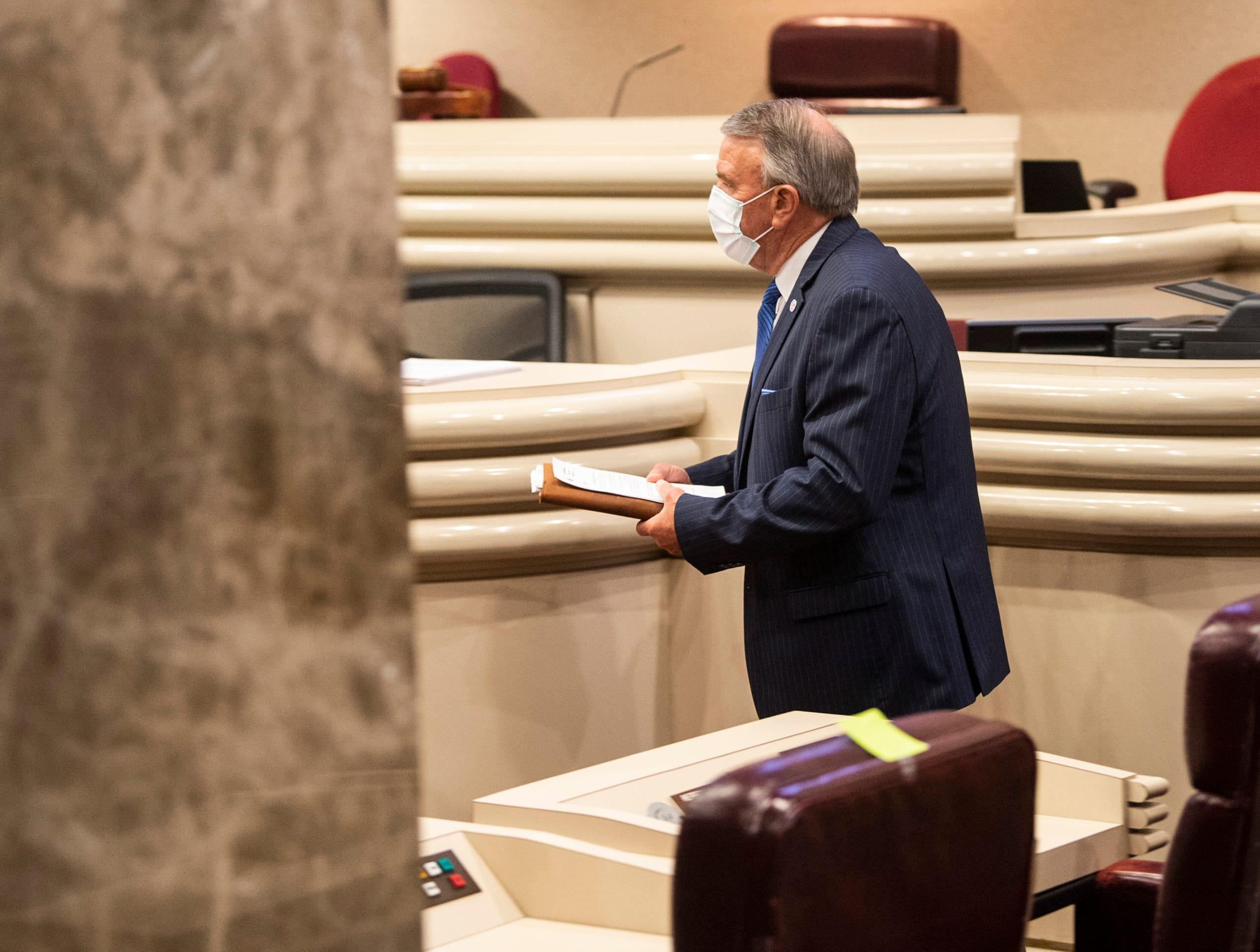 Alabama Speaker of the House Mac McCutcheon announces house return