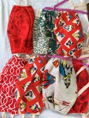 Masks sewn by Gee's Bend quilters for community members.