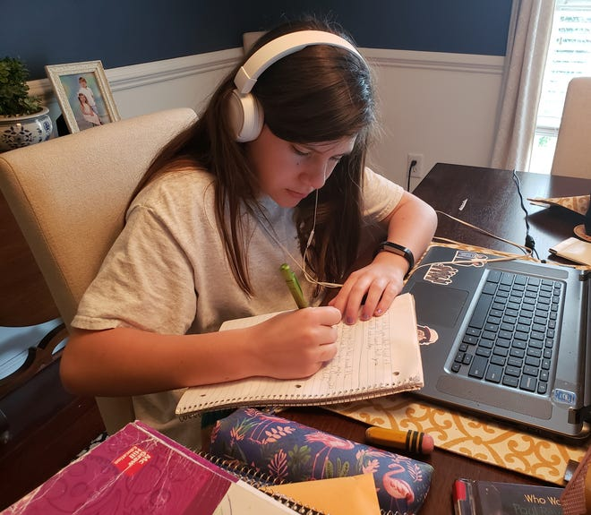 Montgomery Catholic Preparatory School students are continuing lessons from home.