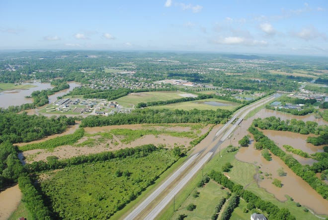 Aerial view of Mack Hatcher Parkway in Franklin.