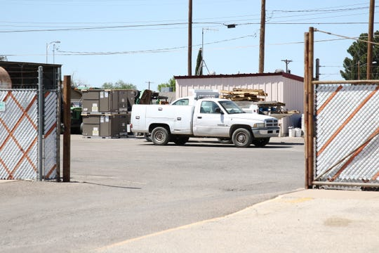 Maintenance pickup trucks sit in the Artesia Public Schools Maintenance Yard on April 23, 2020. A maintenance truck and some tools were allegedly stolen during the early morning hours of April 22, 2020.