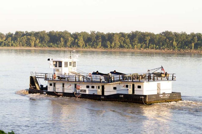 The towboat Edna T. Gattle.