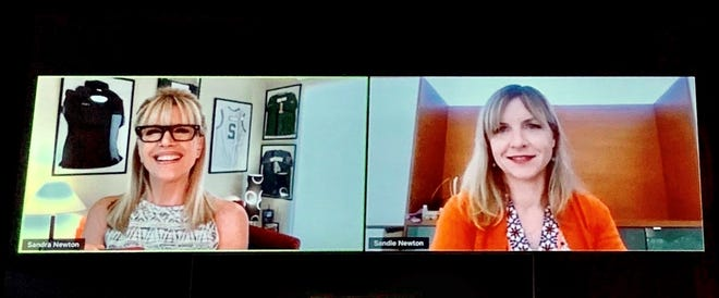 """NBC Palm Springs' Sandie Newton welcomes Desert Sun Executive Editor Julie Makinen on the inaugural """"Silver Linings"""" report."""