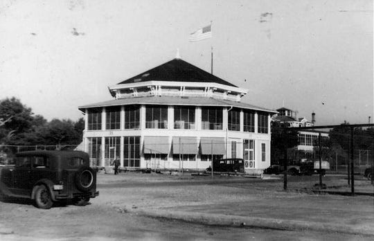 Building 16 served as the Officers Club at NAS Pensacola until World War II. This image was taken during the late 1930s.
