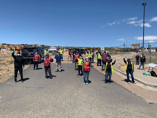 Navajo Nation President Jonathan Nez, officials and volunteers distributed food and care packages to more than 250 tribal members in Jeddito on April 23, 2020.