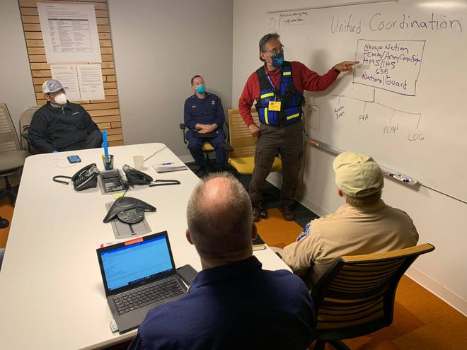 Navajo Nation President Jonathan Nez welcomed to the Navajo Nation the Federal Emergency Management Agency, Department of Health and Human Services, Indian Health Services, Arizona National Guard and the Army Corps of Engineers to assist the Navajo Nation Health Command Operations Center in response to COVID-19 on April 22, 2020.
