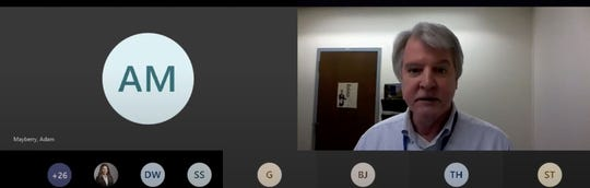 Washoe District Health Officer Kevin Dick talks during a virtual press briefing on Wednesday, April 22, 2020.
