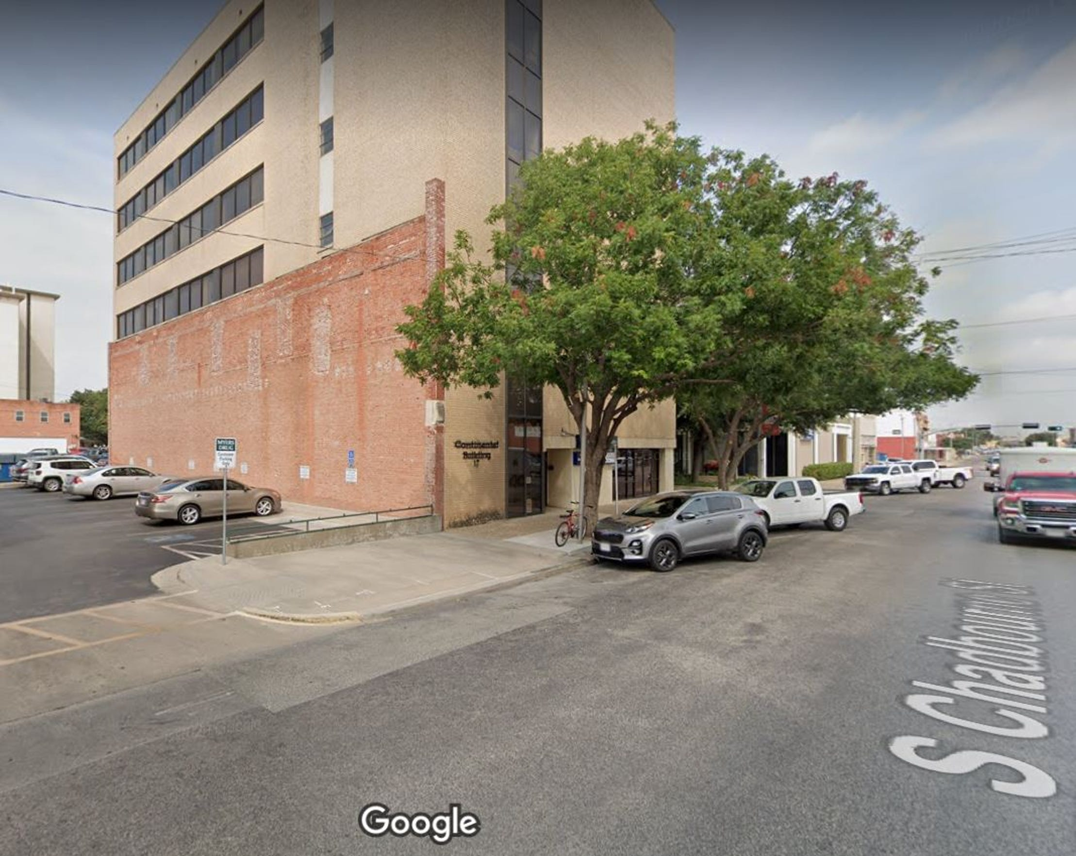 This red-brick wall forming the lower section of the Continental Building's south side is all that remains of the building that was home to the San Angelo Standard between 1925 and 1951. The red-brick portion was the Standard's north wall.