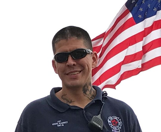 """El Paso firefighter Eduardo """"Eddie"""" Ramirez died after collapsing during a workout on Tuesday, April 21, 2020."""