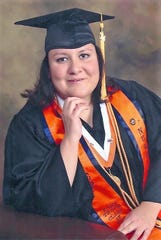 Karla Dominguez's UTEP graduation portrait.