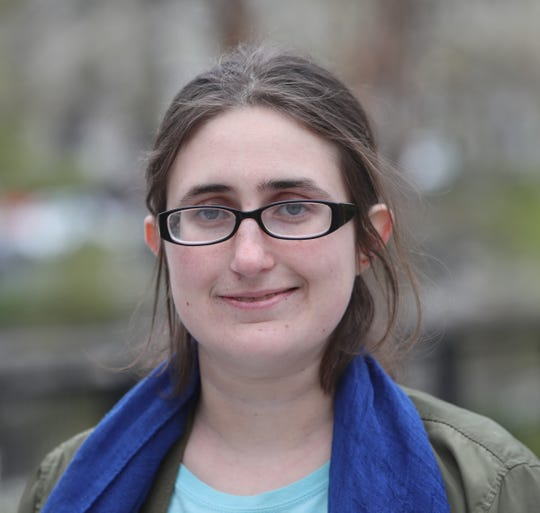 Laura Case, an organizer for homeless rights issues, photographed in Yonkers on Thursday, April 23, 2020.