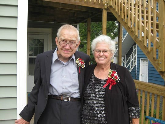 David Spence and his wife, Sally, celebrate their 50th wedding anniversary nearly six years ago.
