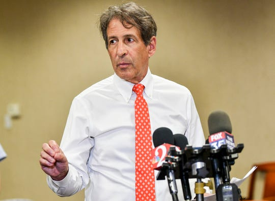 Dr. Craig Deligdish of Omni Healthcare answers questions during a press conference Friday evening, April 24, 2020. Mandatory Credit: Craig Bailey/FLORIDA TODAY via USA TODAY NETWORK