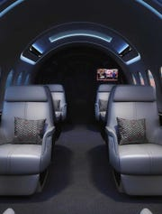 The is a depiction of what the interior Aerion AS2 will look like.