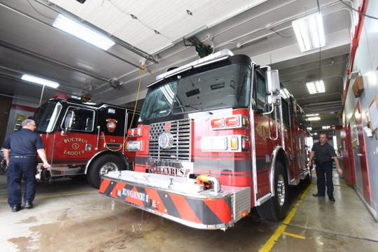 The Bucyrus Fire Department's new pumper truck was delivered Thursday.