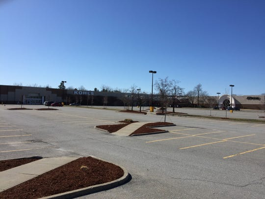 Cars are scarce at 4 p.m. April 23, 2020 in the parking lot at University Mall in South Burlington during the COVID-19 pandemic.