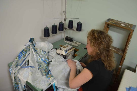 Wedding gown designer, Tara Lynn Scheidet, turns to surgical gown designing to help outfit healthcare workers in the Northeast Kingdom during a shortage of disposable gowns due to COVID-19 in April 2020.