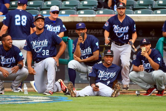 North players watch during the start of the Texas League All-Star Home Derby Tuesday June 30, 2015 at Whataburger Field in Corpus Christi. The 2020 Texas League All-Star Game was canceled.
