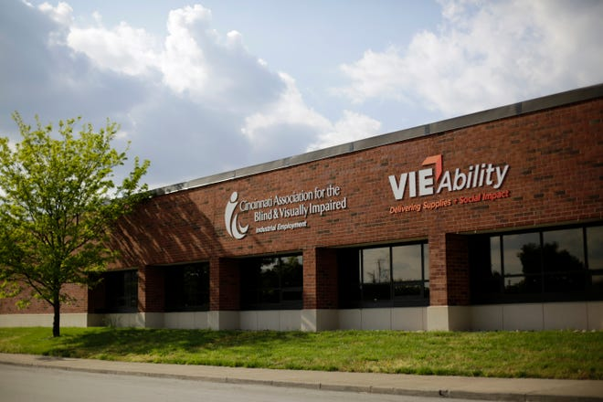 The Cincinnati Association for the Blind and Visually Impaired office on Kenner Street in the Queesgate neighborhood of Cincinnati on Friday, April 24, 2020. Cincinnati Association for the Blind and Visually Impaired laid off 65 workers in April.