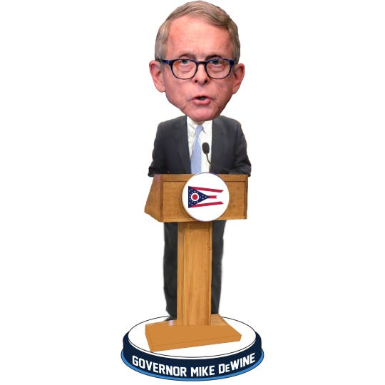 TheNational Bobblehead Hall of Fame and Museumunveiled a Gov. Mike DeWine bobblehead and it is currently available for presale.