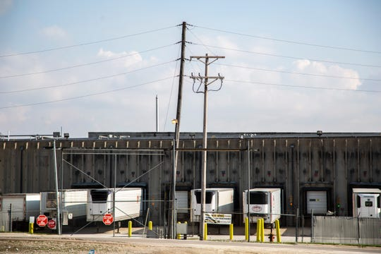 Loading docks at the West Liberty Foods processing plant are seen, Thursday, April 23, 2020, in West Liberty, Iowa.